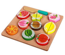 Children role play wooden food toy kinds of cutting vegetables toy