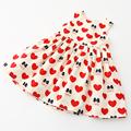2016 New Summer Style Girl Dress Sleeveless Princess Heart Print Kids Dresses For Girls Baby