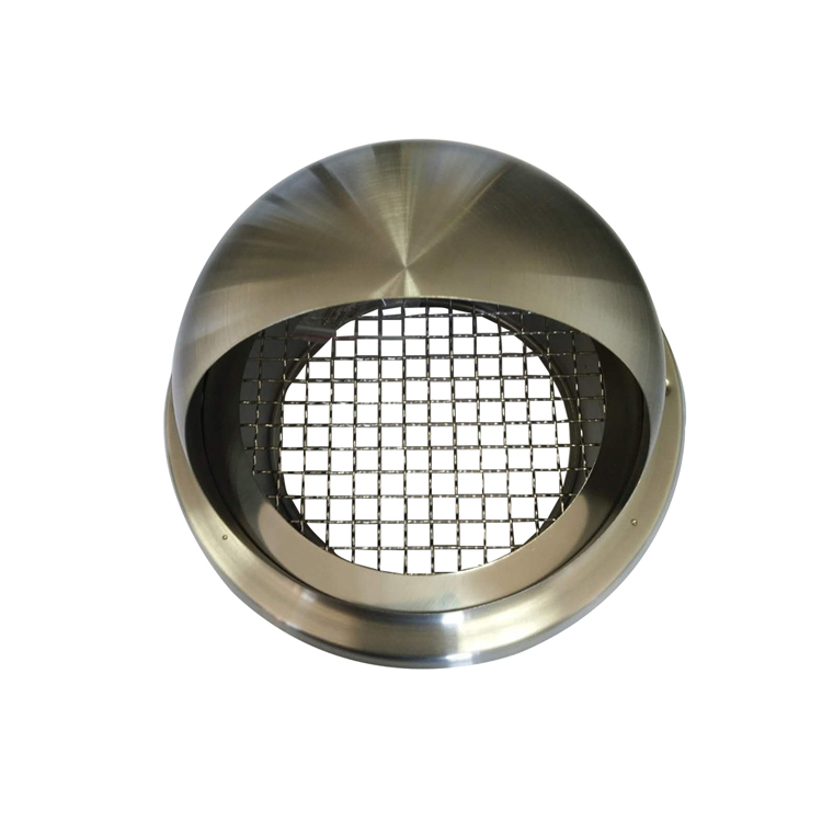 High quality Air exhaust vent Stainless steel external louver Round Cap air vent