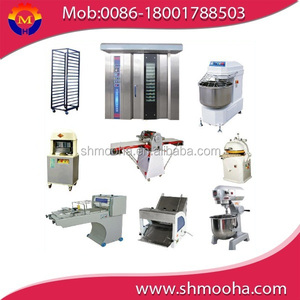 automatic bread line for sale ,complete bakery equipment , rotary oven (ISO9001,CE,bakery equipments)