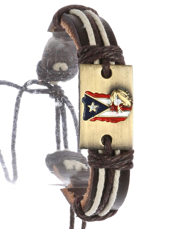 Multi adjustable cord faux leather band bracelet Fashion Jewelry FancyCharm