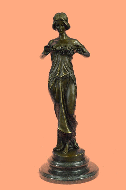 "...Handmade...European Bronze Sculpture Art Deco ""Nymph Of The Woods"" Pittaluga Signed Art Nouveau Women (1X-EP-893) Bronze Sculpture Statues Figurine Nude Office & Home Décor Collectibles Sale Deal"