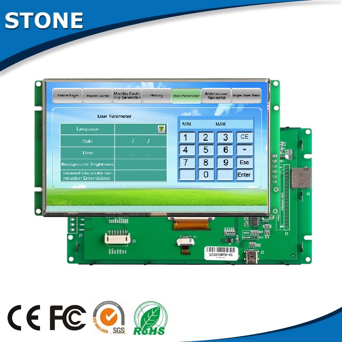 "Pcb tft 7"" panel rs485 or ttl monitor treating water equipment touch screen"