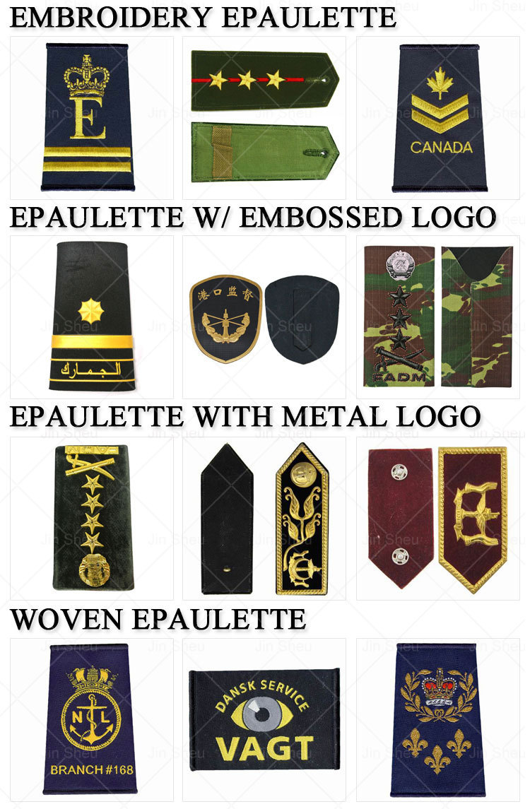 Custom Navy Air Force Shoulder Boards Insignia Embroidery Military