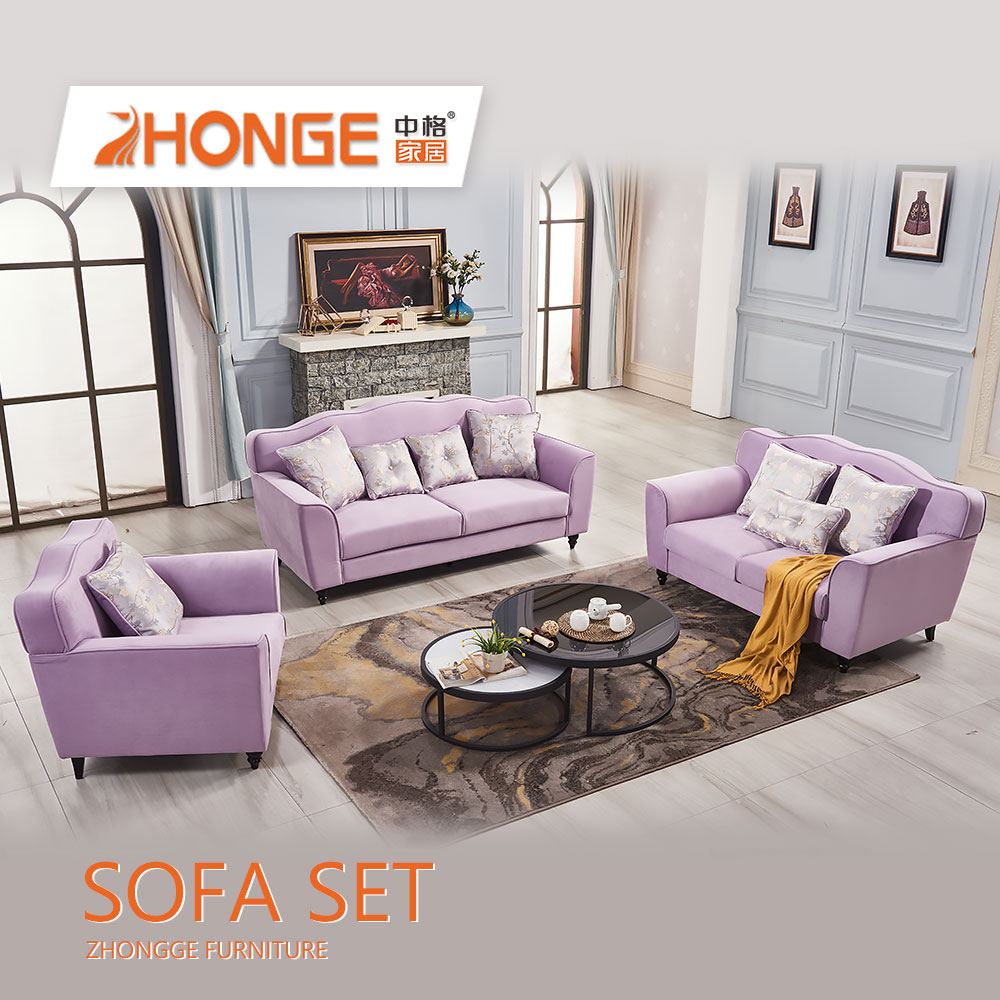 Cheap Living Room Classical Simple Design Wooden Legs Purple Color  Upholstery Sectional Fabric Sofa For Sale - Buy Purple Color Upholstery  Sectional ...