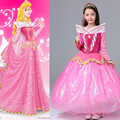 Sleeping Beauty Aurora dress free crown wand Princess Costume Dresses for girl Kid fancy party dress