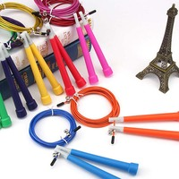 Custom Double Dutch Cross Fit Adjustable Steel Wire High Speed Skipping Plastic Handle Jump Rope