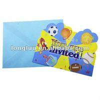 Popular paper children's birthday party invitations