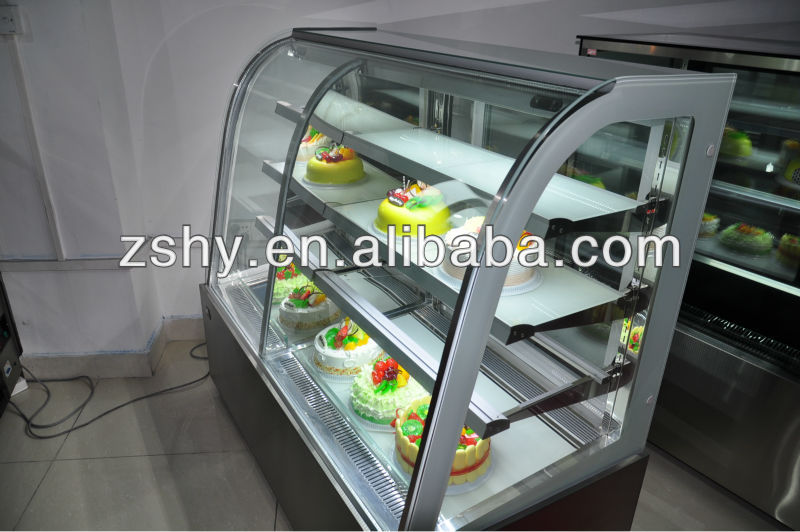 Stainless Steel Cake Refrigerator Showcase