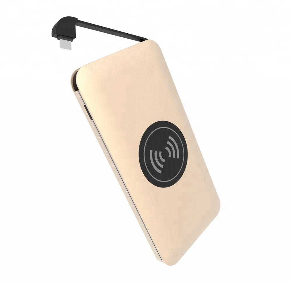 10000mah Hot Selling Built In Cable Universal Best charger Wireless Power Bank фото