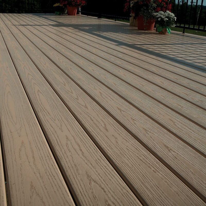 Wood Textured Pvc Outdoor Plastic Composite Decking Product On Alibaba