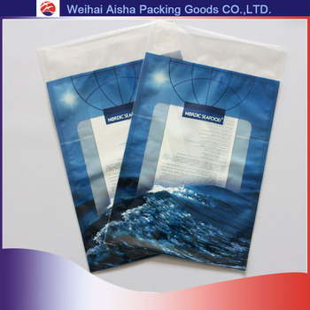 Customized Printing Bottom Seal Plastic Pouch Food Grade Blue Material Antistatic PE Bag