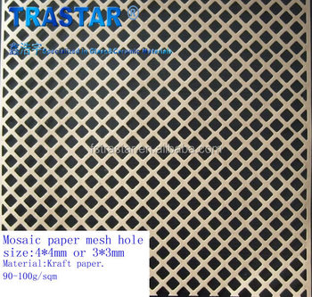 Durable Mosaic Kraft Paper Mesh Backing For Gl Stone Tile