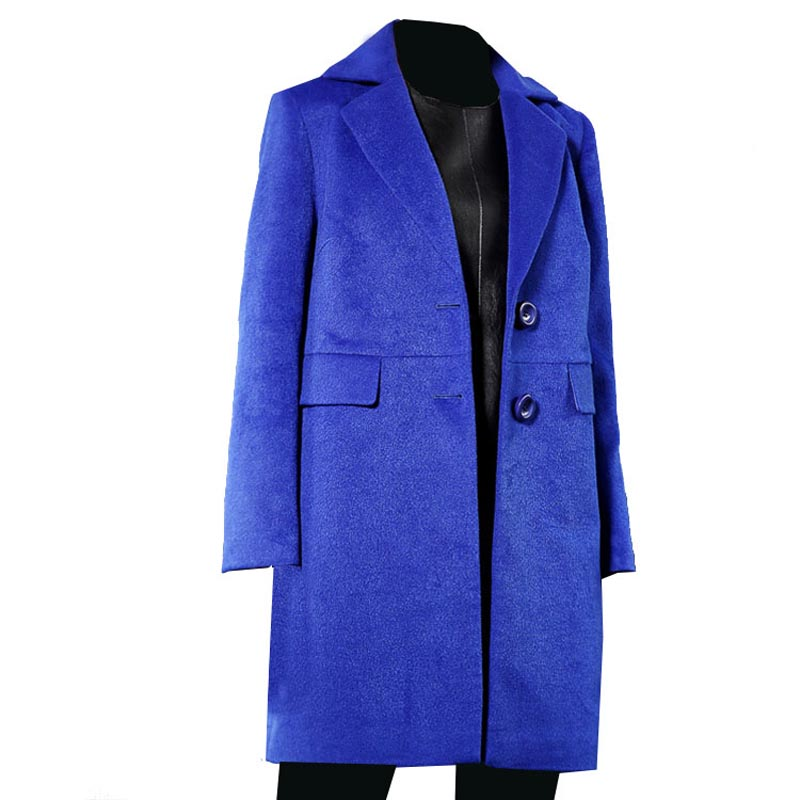 2017 latest design dark blue Winter Coat for women with trench coat