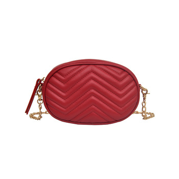 KK7031 Amazon Hot Fashion Quilted PU Leather Red Purse Fanny Pack