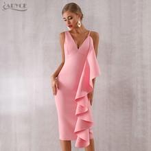 Женское вечернее платье без рукавов Adyce, Клубное облегающее платье без рукавов с оборками, модель 2020(Китай)
