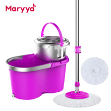 Maryya Cool 360 Roterende Floor Cleaning Magic Spin Mop met Spin Mand