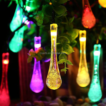 Solar recharged led outdoor multi color water drop fairy lights solar recharged led outdoor multi color water drop fairy lights aloadofball Images