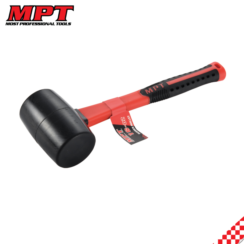 MPT 16oz Rubber Mallet With Fiberglass Handle