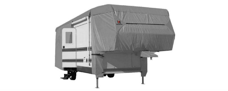HOMFUL UV-protect 3-Ply Poly Fabric Water Repellent Fifth wheel RV cover