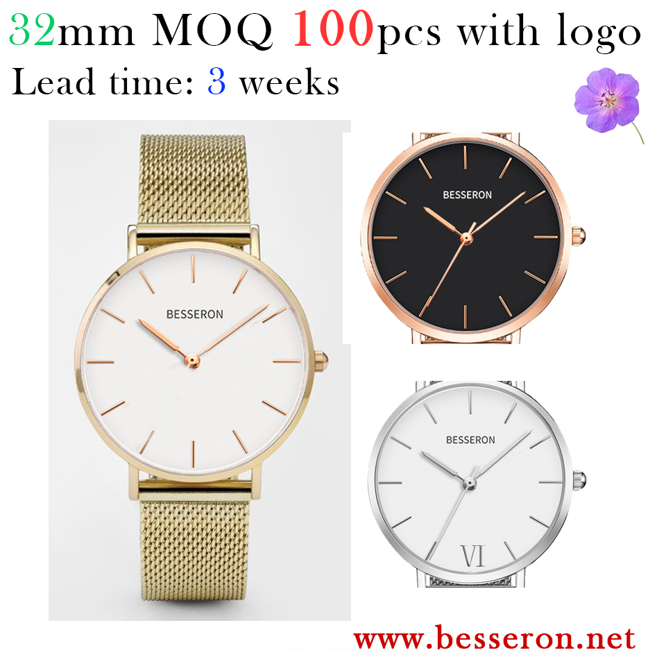 2017 custom 32mm watch japan movt sr626sw price face relogios femininos women watches