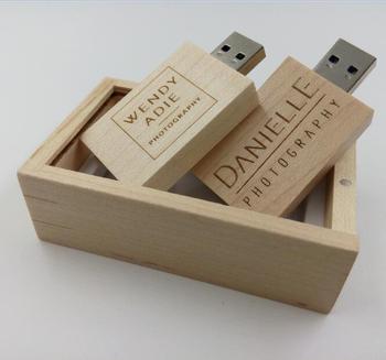Wedding Favors Gift Usb Wood Box Flash Drive 16gb With Logo