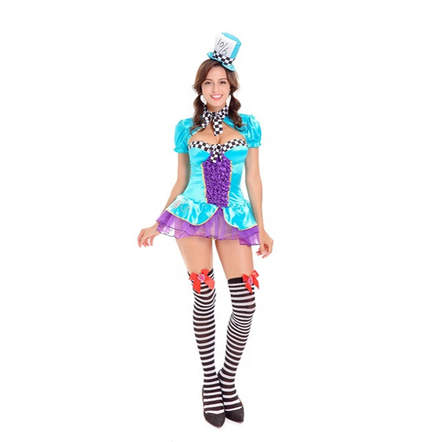 Circo di carnevale sexy lady costume mago, mago fancy dress