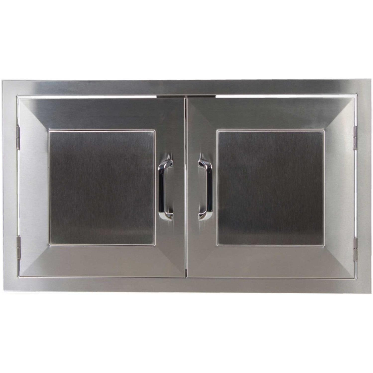 Bbqguys.com Kingston Panel Series 42-inch Stainless Steel Enclosed Cabinet Storage With Shelf
