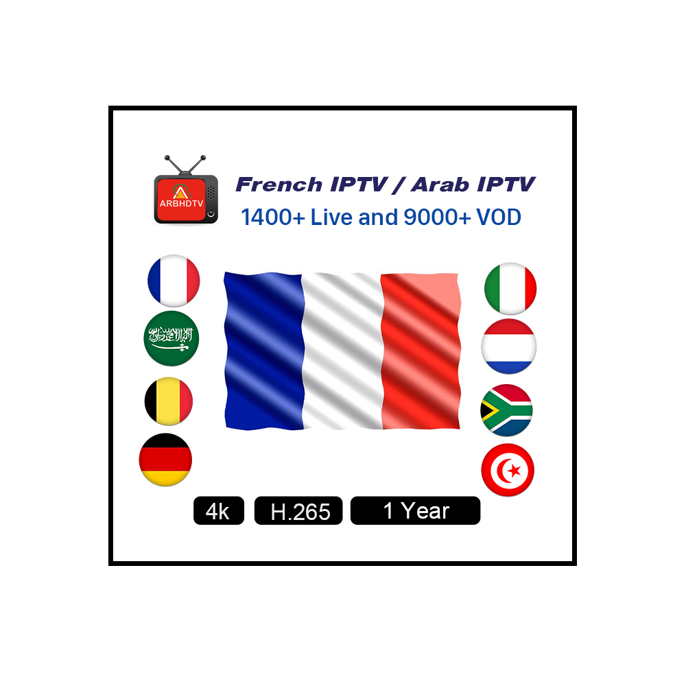 France IPTV Account Subscription HD French Channels Abbonnement ARBHDTV 1 Year фото