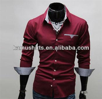 43981c50450 Итальянский стиль Мужские рубашки человек Slim Fit модный дизайн рубашки