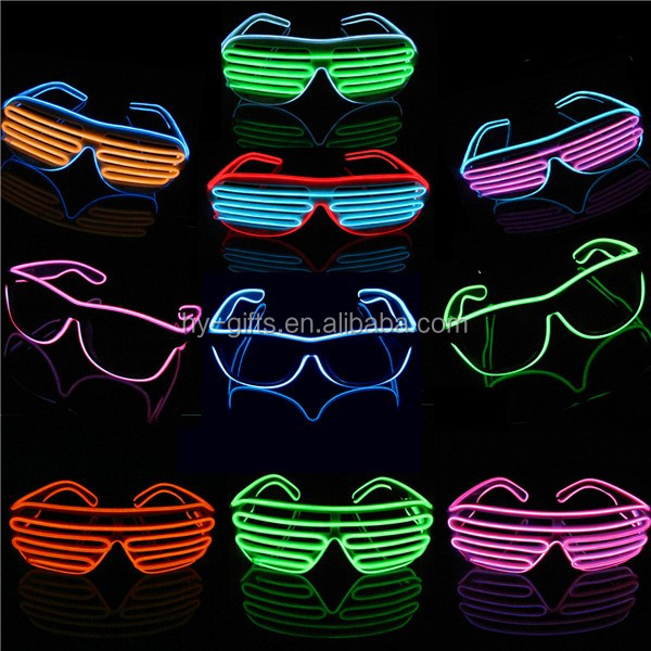 colored el glasses decoration light up led glasses in event party city