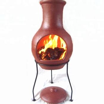 Garden Chiminea Outdoor Fireplace Terracotta Handmade Customized