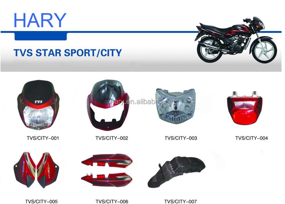 OEM quality TVS STAR SPORT CITY motorcycle body parts