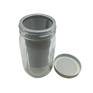 borosilicate glass coffee maker metal filter