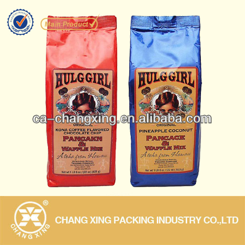 Plastic custom label printing organic coffee bag/food packaging for Coffea bags