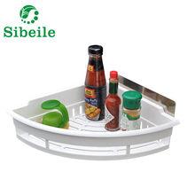 SBLE Новое поступление мощная присоска угловая полка для ванной комнаты, кухонная полка для хранения, ABS Высококачественная полка для ванной ...(Китай)