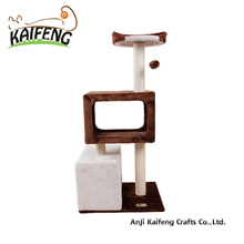 Comfortable Soft Durable Sturdy Pat Wood Furniture Scratching Posts Cat Tree Tower Climbing Pets Supplies