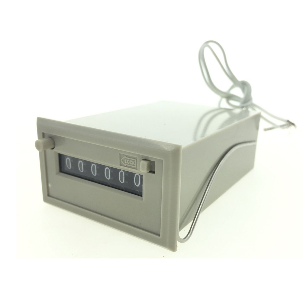 YXQ CSK6-DKW 6 Digits Mechanical Electromagnetic Counter with 2 White Wire 24V DC