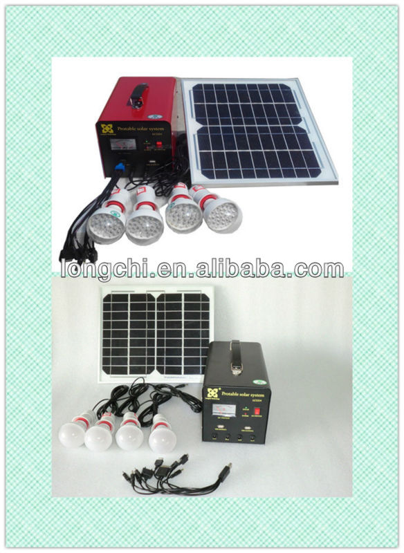 New Desgin 10W Portable Solar Lighting System With Mobile Changer