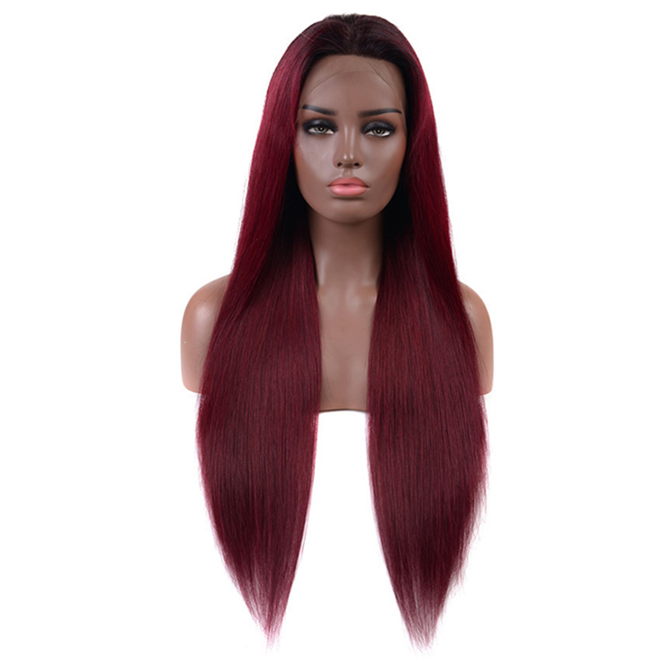 Factory <strong>Cheap</strong> Price Ombre <strong>Wigs</strong> <strong>Human</strong> <strong>Hair</strong> Virgin Brazilian 1b 99j Color <strong>Lace</strong> <strong>Wig</strong> 150% <strong>Lace</strong> <strong>Front</strong> Straight <strong>Wig</strong>