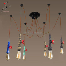 Retro pendant ligth Rope Chandelier Water pipe hang lamp for restaurant bar decorative