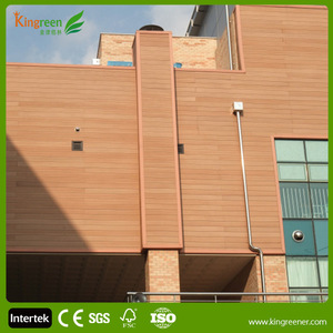 Wood plastic composite wall panel for exterior wall cladding and UV-protect