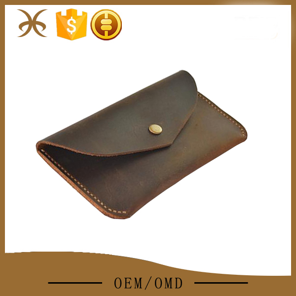 Crazy horse leather new design private label wallet