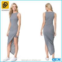 Fashion Long Dresses Casual Style Asymmetrical Dress Professional OEM Factory