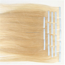 Human Hair Super Tape Cuticle Remy skin weft hair extensions