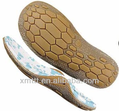 Latest design beach slipper sole made by camouflage pattern MD+linen+RB