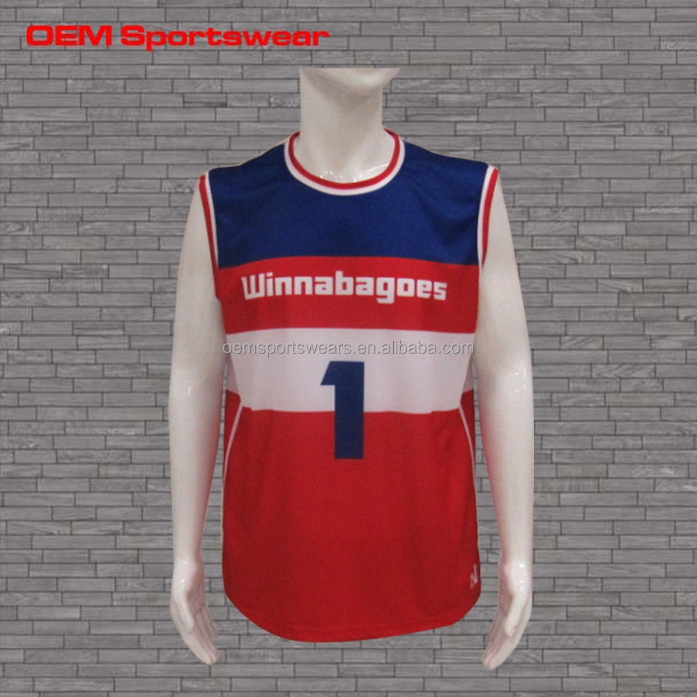 Customized team sports wear wholesale basketball jersey