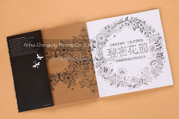 Secret Garden Coloring Book Hand Paint Postcard