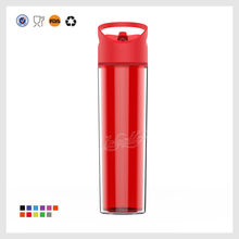 fashion Eco-friendly Popular clear outside colorful plastic shaker water bottle