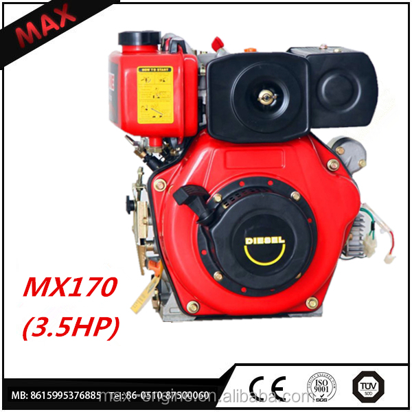 High Performance 170cc Small Compact Diesel Engine 3.8Hp